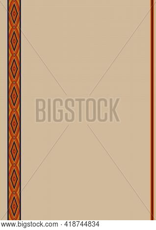 Ethnic Pattern Background With Copy Space For Text. Design Template For Mexican Restaurant Menu, Par