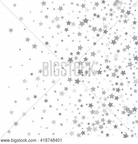 Light Silver Glitter Confetti Background. Silver Glitter Confetti. Light Background.