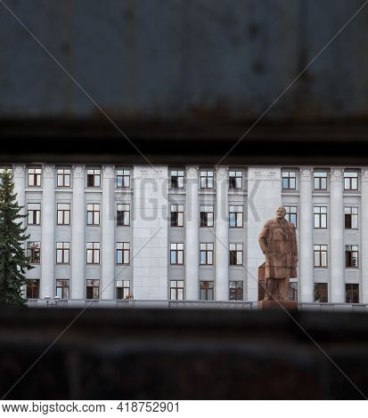 Image Of The Monument To The Lenin And Building