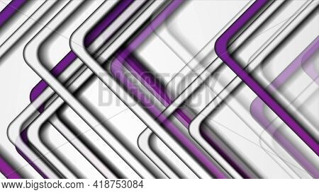 Violet and grey contrast stripes abstract tech motion graphic design. Geometric background. Seamless looping. Video animation Ultra HD 4K 3840x2160