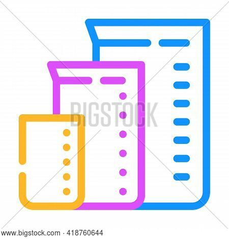 Measuring Cups For Mixing Bartender Color Icon Vector. Measuring Cups For Mixing Bartender Sign. Iso
