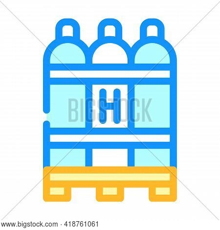 Hydrogen Biogas Color Icon Vector. Hydrogen Biogas Sign. Isolated Symbol Illustration
