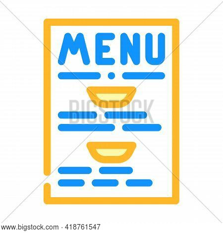 Menu Buffet Color Icon Vector. Menu Buffet Sign. Isolated Symbol Illustration