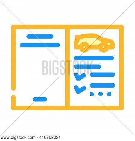 Auto Service Passport Car Color Icon Vector. Auto Service Passport Car Sign. Isolated Symbol Illustr