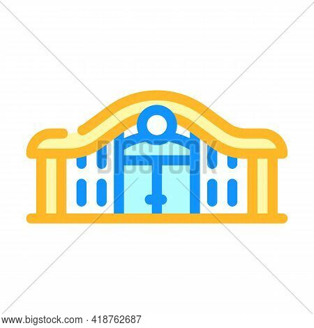 Railway Station Color Icon Vector. Railway Station Sign. Isolated Symbol Illustration
