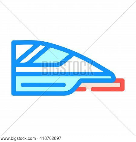 High Speed Train Color Icon Vector. High Speed Train Sign. Isolated Symbol Illustration