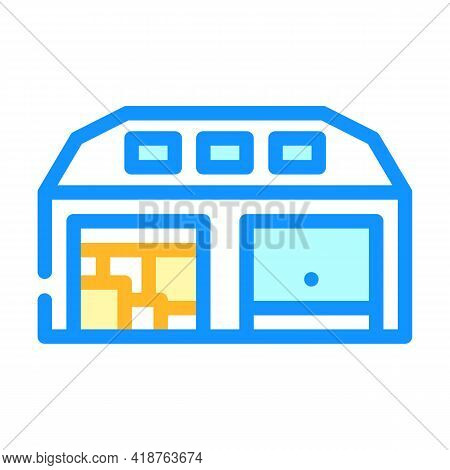 Warehouse Wholesale Color Icon Vector. Warehouse Wholesale Sign. Isolated Symbol Illustration