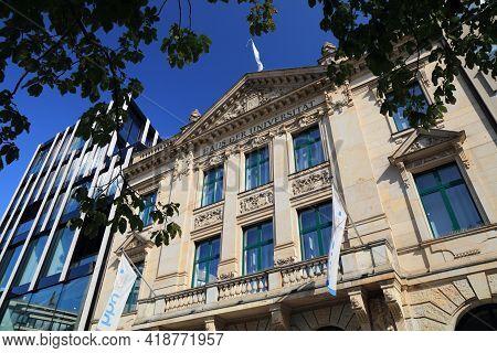 Dusseldorf, Germany - September 19, 2020: Building Of Heinrich Heine University In Downtown Dusseldo