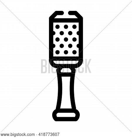 Grater Bartender Line Icon Vector. Grater Bartender Sign. Isolated Contour Symbol Black Illustration