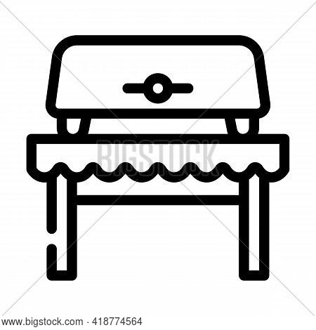 Bread Toaster Equipment Line Icon Vector. Bread Toaster Equipment Sign. Isolated Contour Symbol Blac
