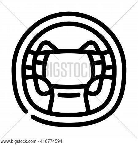 Steering Wheel Car Line Icon Vector. Steering Wheel Car Sign. Isolated Contour Symbol Black Illustra