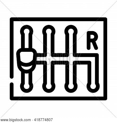 Manual Transmission Car Line Icon Vector. Manual Transmission Car Sign. Isolated Contour Symbol Blac