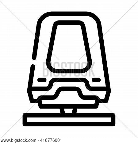 Maglev Railway Line Icon Vector. Maglev Railway Sign. Isolated Contour Symbol Black Illustration