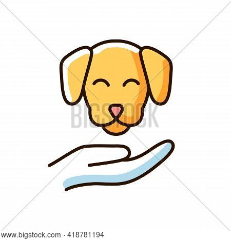 Pet Friendly Rgb Color Icon. Hotels Which Offer Range Of Amenities And Services Designed To Accommod