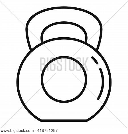 Hard Kettlebell Digestion Icon. Outline Hard Kettlebell Digestion Vector Icon For Web Design Isolate