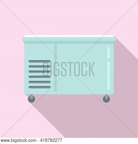 Food Freezer Icon. Flat Illustration Of Food Freezer Vector Icon For Web Design