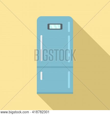 Home Fridge Icon. Flat Illustration Of Home Fridge Vector Icon For Web Design
