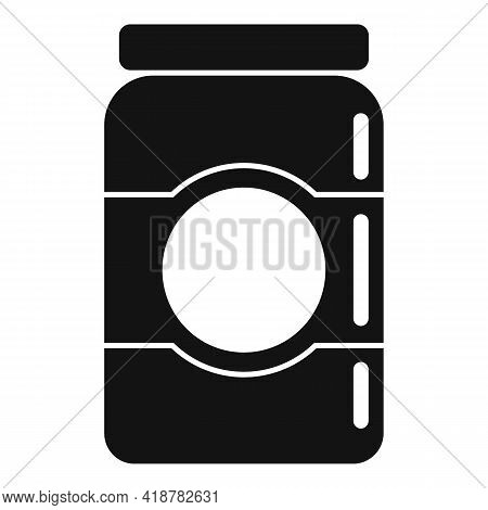 Jam Jar Icon. Simple Illustration Of Jam Jar Vector Icon For Web Design Isolated On White Background