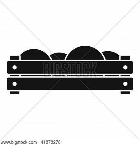 Fruits Wood Box Icon. Simple Illustration Of Fruits Wood Box Vector Icon For Web Design Isolated On