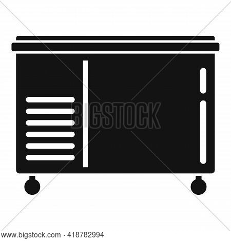 Food Freezer Icon. Simple Illustration Of Food Freezer Vector Icon For Web Design Isolated On White