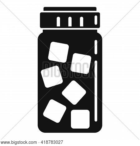 Sugar Jar Icon. Simple Illustration Of Sugar Jar Vector Icon For Web Design Isolated On White Backgr