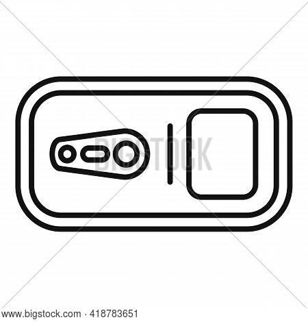 Top View Tin Can Icon. Outline Top View Tin Can Vector Icon For Web Design Isolated On White Backgro