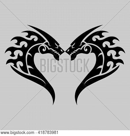 Dragon Icon Isolated On White Background From Fantastic Characters Collection. Dragon Icon Thin Line