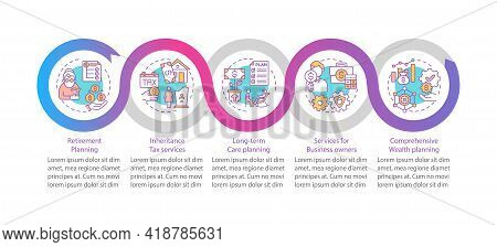 Wealth Guidance Vector Infographic Template. Services For Business Owners Presentation Design Elemen