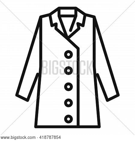 Coat Dry Cleaning Icon. Outline Coat Dry Cleaning Vector Icon For Web Design Isolated On White Backg