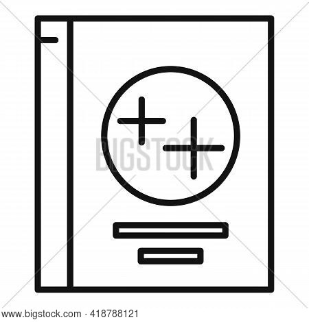 Detergent Box Icon. Outline Detergent Box Vector Icon For Web Design Isolated On White Background