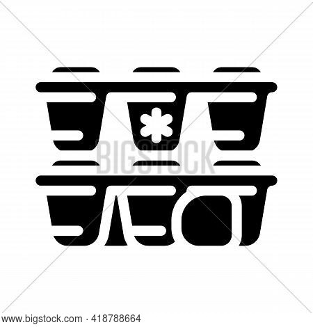 Form For Ice Bartender Glyph Icon Vector. Form For Ice Bartender Sign. Isolated Contour Symbol Black