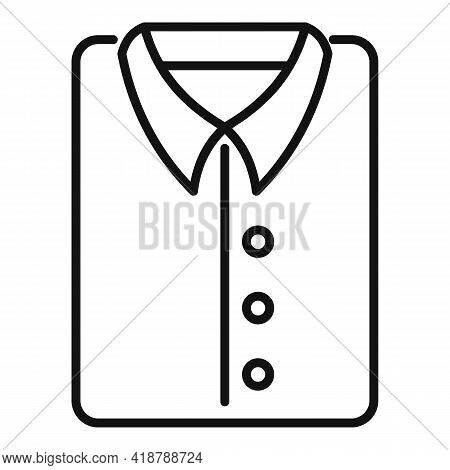 Dry Cleaning Shirt Icon. Outline Dry Cleaning Shirt Vector Icon For Web Design Isolated On White Bac