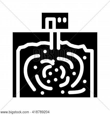 Underground Storage Bacteria Biogas Glyph Icon Vector. Underground Storage Bacteria Biogas Sign. Iso