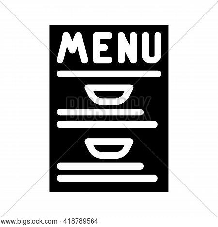 Menu Buffet Glyph Icon Vector. Menu Buffet Sign. Isolated Contour Symbol Black Illustration