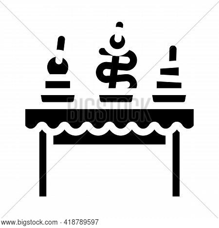 Snacks Buffet Glyph Icon Vector. Snacks Buffet Sign. Isolated Contour Symbol Black Illustration