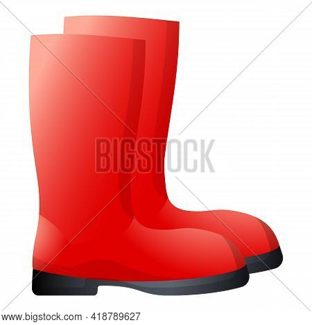 Garden Boots Icon. Cartoon Of Garden Boots Vector Icon For Web Design Isolated On White Background