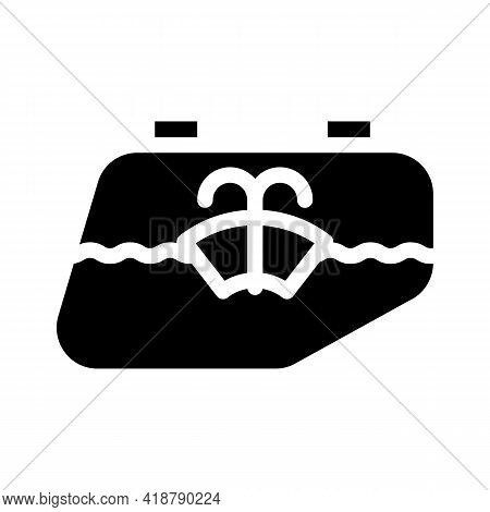 Glass Washing Car Glyph Icon Vector. Glass Washing Car Sign. Isolated Contour Symbol Black Illustrat