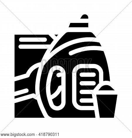 Color Preservation Detergent Glyph Icon Vector. Color Preservation Detergent Sign. Isolated Contour