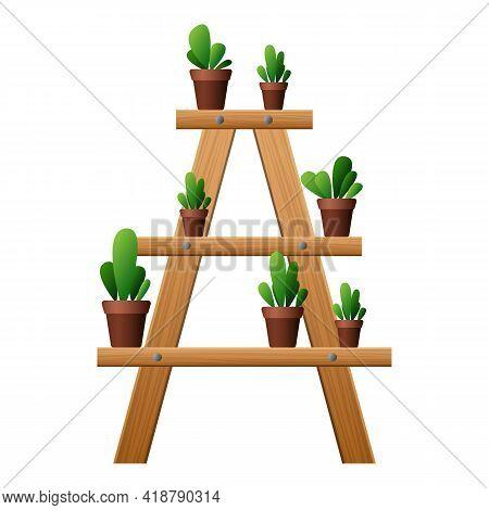 Garden Plant Rake Icon. Cartoon Of Garden Plant Rake Vector Icon For Web Design Isolated On White Ba