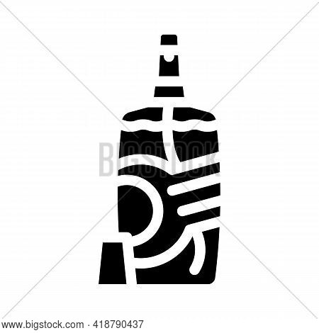 Baby Powder Detergent Glyph Icon Vector. Baby Powder Detergent Sign. Isolated Contour Symbol Black I