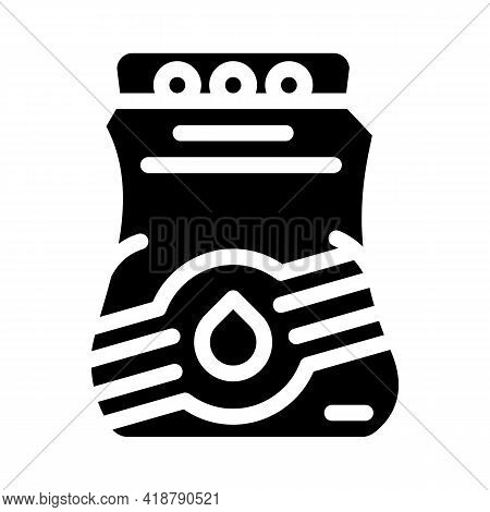 Bags Detergent For Travel Glyph Icon Vector. Bags Detergent For Travel Sign. Isolated Contour Symbol