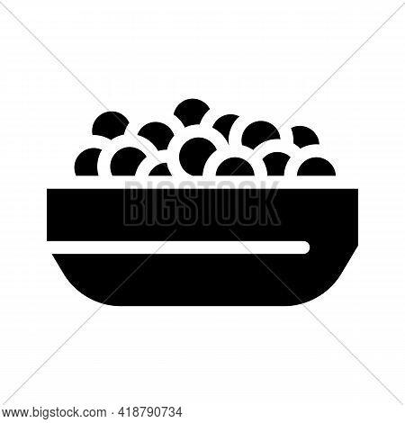 Caviar Fish Glyph Icon Vector. Caviar Fish Sign. Isolated Contour Symbol Black Illustration