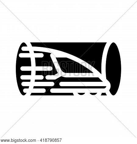 Hyperloop Railway Glyph Icon Vector. Hyperloop Railway Sign. Isolated Contour Symbol Black Illustrat