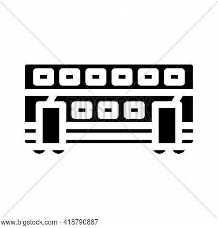 Double-deck Wagon Glyph Icon Vector. Double-deck Wagon Sign. Isolated Contour Symbol Black Illustrat