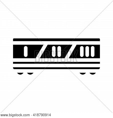 Division By Class Railway Glyph Icon Vector. Division By Class Railway Sign. Isolated Contour Symbol