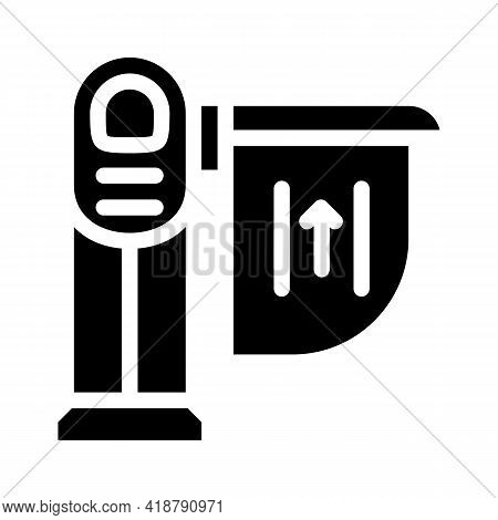 Limiter Railway Glyph Icon Vector. Limiter Railway Sign. Isolated Contour Symbol Black Illustration