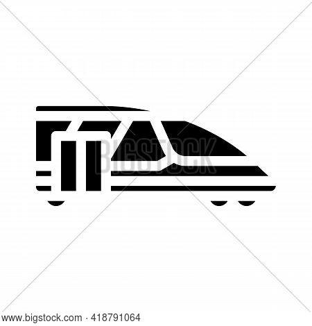 Train Transport Glyph Icon Vector. Train Transport Sign. Isolated Contour Symbol Black Illustration
