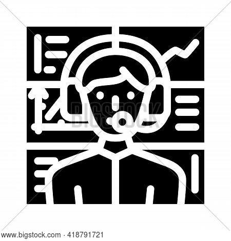 Broker Wholesale Glyph Icon Vector. Broker Wholesale Sign. Isolated Contour Symbol Black Illustratio