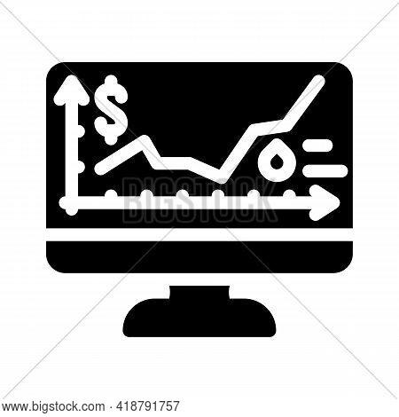 Price Rise Wholesale Glyph Icon Vector. Price Rise Wholesale Sign. Isolated Contour Symbol Black Ill