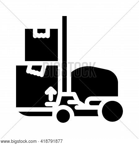 Loader Wholesale Glyph Icon Vector. Loader Wholesale Sign. Isolated Contour Symbol Black Illustratio